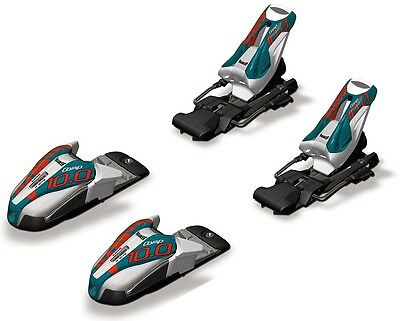 Marker M 10.0 Comp EPS White/Black/Teal Ski Bindings