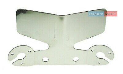 Large towbar / towing bumper protector plate stainless steel