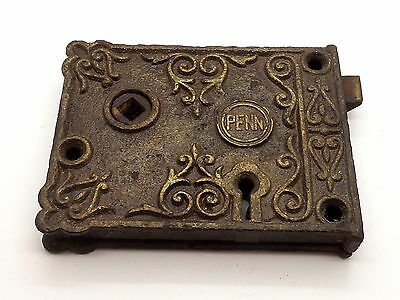Beautiful Original 1890's Penn Ornate Reversible Lock Keeper ~Very Rare~