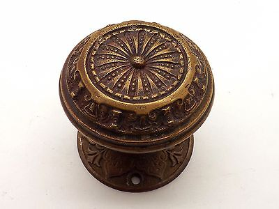 Late 19Th Century Eastlake Bronze Door Knob And Backplate ~Very Victorian~