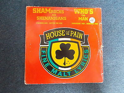 """House Of Pain Shamrocks And Shenanigans / Who's The Man 12"""" XL Recordings 1993"""