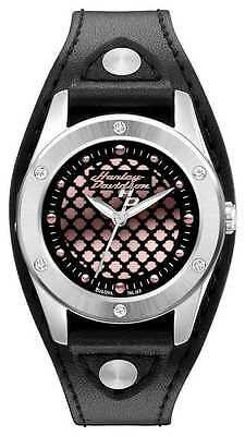 Harley Davidson® Womens Rose Gold Dial with Leather Strap Watch By Bulova 76L163