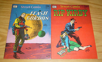 Street Comix #1-2 VF/NM complete series - rip kirby - flash gordon - 1973 set