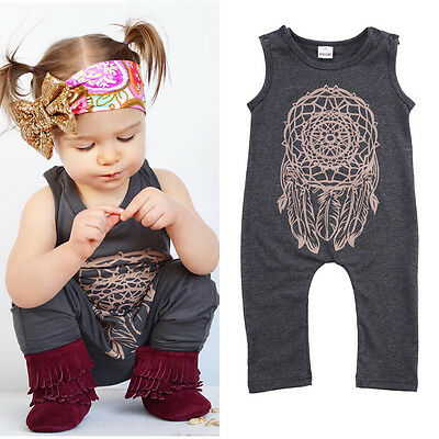 0-5Year Infant Baby Girls Kids One-Piece Bodysuit Romper Jumpsuit Outfit Clothes