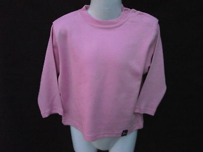 BNWOT Girls Sz 3-4 Years Cute Pink 3/4 Sleeve Stretch Round Neck Top