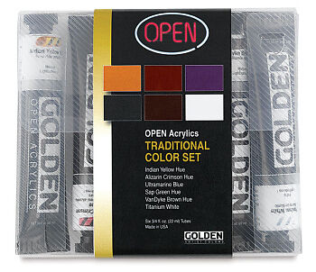 Golden Open Acrylic Paint Intro Set 6x22ml : Traditional