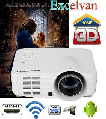 Proyector Projector 640*480 1500 lm wifi Android AV/HDMI/USB/SD Home Hheater 3D