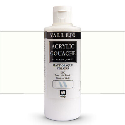 Vallejo : Acrylic Gouache Paint : 200ml : Titanium White