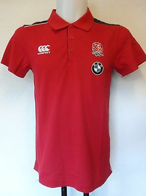 England Rugby Red Bmw Training  Polo Shirt By Canterbury Size Adults Medium
