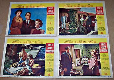 There's Always Tomorrow (1955) Barbara Stanwyck Lot Of 4 Original Lobby Cards