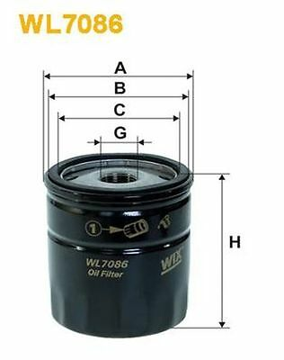 To Clear - New Oe Quality Wix - Oil Filter - Wl7086