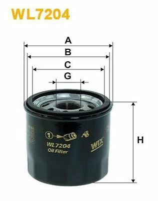 To Clear - New Oe Quality Wix - Oil Filter - Wl7204