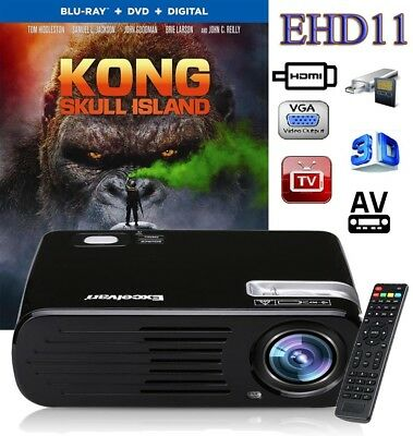 PROYECTOR LED Mini PROJECTOR 2500 lm 800*600 2000:1 Multimedia 1080P DVD PC HDMI