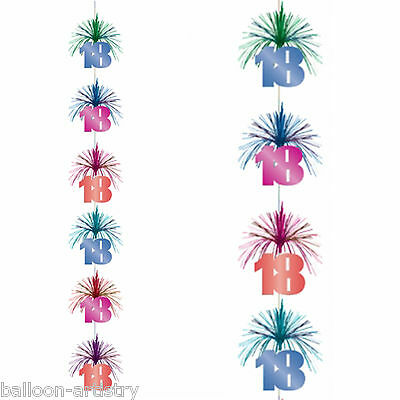 7ft Multi Colour 18th Birthday Party Cascade Column Hanging Decoration
