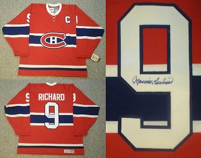 Autographed Maurice Richard Montreal Canadiens Jersey