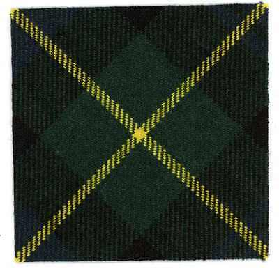 CORRECT WOOL TARTAN BACKING for GORDON HIGHLANDER CAP BADGE PATCH BRITISH ARMY
