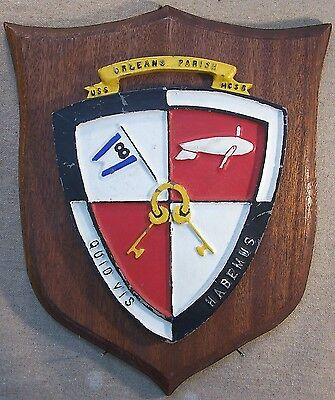 Metal Painted Ships Badge Plaque Lst Mso6 Ww2 Survivor Uss Orleans Parish Q669