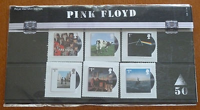 PINK FLOYD 50TH ANNIVERSARY 10 x STAMP PRESENTATION PACK SET..UK ROYAL MAIL MINT