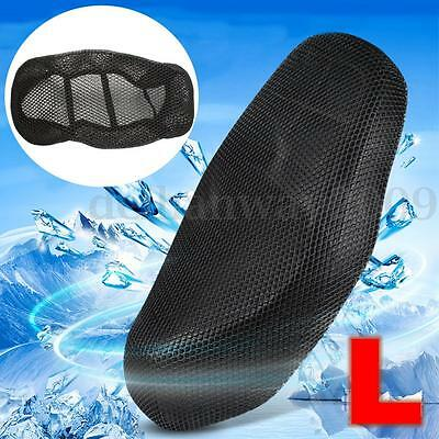 L 3D MOTORCYCLE MOTORBIKE SCOOTER Breathable Net SADDLE SEAT COVER PROTECTOR New