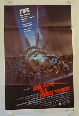 Escape from New York original release US Onesheet movie poster