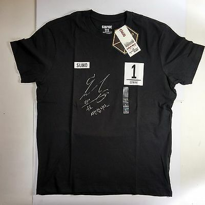 EXO Kpop - SHUO -  Hand-Signed KOR Message SPAO EXOcollaboration T-shirts SNSD