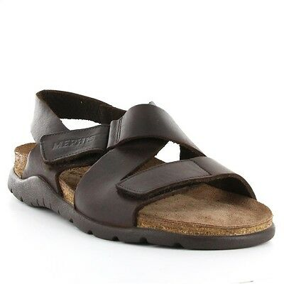78f151a0d24 Mephisto Tadek Dark Brown Oiled Leather Strappy Comfort Sandal Mens 40-48  NEW!