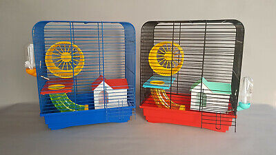 Cage Hamster Mouse Rat House Rodents Tube Wheel Water Bottle Mice Pet Gerbil