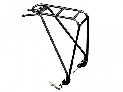 """Tubus Disco Bicycle Rear Rack Black 26 """" Inches, Compatible with Disc Brake"""