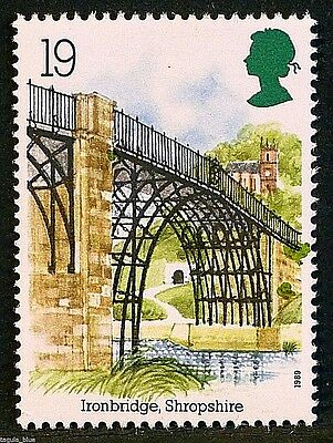 """Ironbridge in Shropshire"" illustrated on 1989 stamp - U/M"