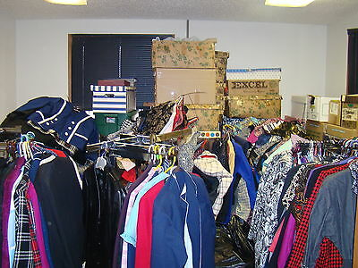 Large hoard of women's clothing 1960's thru the present. 2494 items