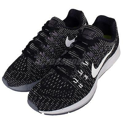 Wmns Nike Air Zoom Structure 19 Black Grey Womens Running Shoes 806584-001