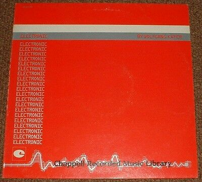 MUSIC LIBRARY CHAPPELL electronic WOLFGANG KAFER 1985 UK STEREO LP