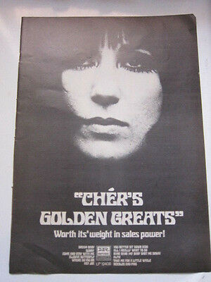 CHER Golden Greats Billboard magazine ad 11x15