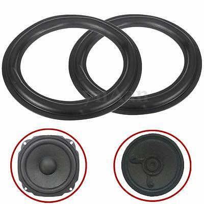 2x Black 8'' Speaker Surround Decorative Circle Repair Foam For Bass Woofer Horn