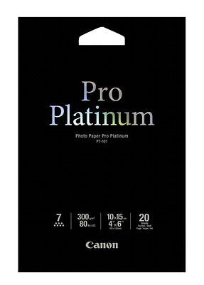 Canon Pt-101 10X15 Cm, 20 Sheet Photo Paper Pro Platinum   300 G New