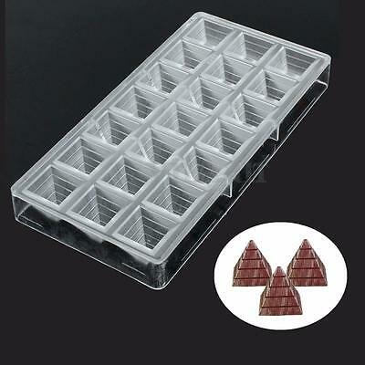 3D Pyramid Shape Polycarbonate PC Clear Cake Jelly Ice Chocolate Mold Mould Tool
