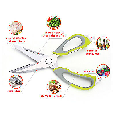 Kitchen Scissor Multifunction Shear Bone Cutter Cooking Tool Nutcracker Magnetic