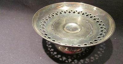 Silverplate Vintage Footed Compote with Reticulated Middle Eastern Style Design