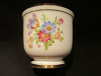 "VA Pottery Portugal Lovely Cachepot Planter Floral Design 4 1/4"" Tall"
