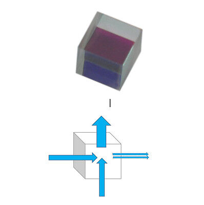 Laser Beam Combine Cube Prims Mirror for 405nm 450nm blue Diode 12x12x12mm