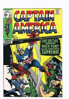Captain America # 123  Suprema grade 8.0 hot book !!