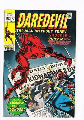 "Daredevil # 75 ""Now Rides the Ghost of El Condor! grade 7.5 scarce hot book !!"