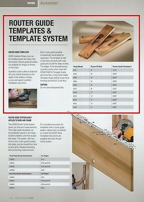 Soss #203-It Concealed Hinge Router Guide Template