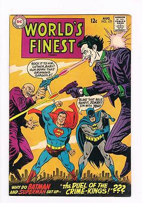 Worlds Finest Comics # 177 Duel of the Crime Kings! grade 8.0 scarce book !