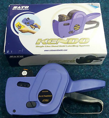1 New 8 Band Sato Kendo 26 Price Pricing Gun Hand Labeller + 1 Extra Ink Roller