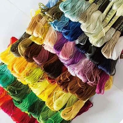 100 Mixed Colors Cross Stitch Cotton Sewing Skeins Embroidery Thread Floss Kit
