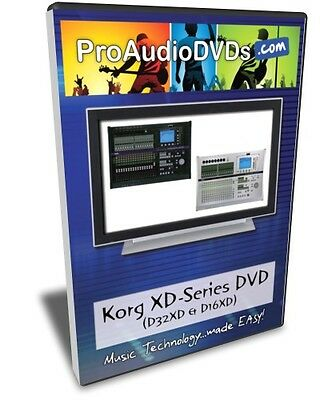Korg D32XD & D16XD DVD Video Training Tutorial Help