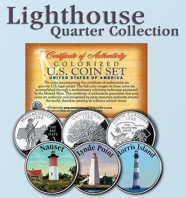 Historic LIGHTHOUSE State Quarter 3-Coin Set #7
