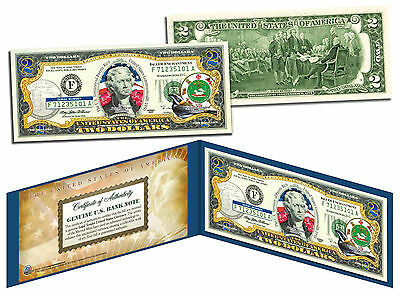PUERTO RICO Statehood $2 Two-Dollar Colorized U.S. Bill - Genuine Legal Tender