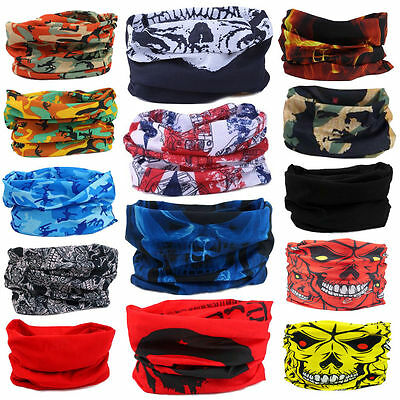 Retro Cool Tube Scarf Bandana Head Face Mask Neck Gaiter Snood Headwear Beanie